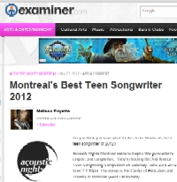 Article in Montreal Examiner, May 23, 2012