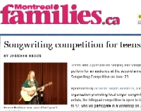 Article in Montreal Families, June 2012