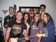 Jimmy Khayata, Laurie Martin,  Kassandra Chamberland, Sabrina Correa, Jonathan Rosner, Jon Watts, Srikanth Narayanan- Rehearsal 2012 Acoustic Nights Gala