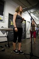 Workshop participant performing under instructor Johanne Desforges' guidance- 2012-06-09
