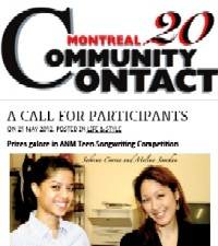 Article in Montreal Community Contact, May 17, 2012