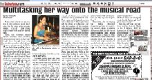 Article about Melina Soochan and Acoustic Nights 1n The Suburban, 2010-09-22
